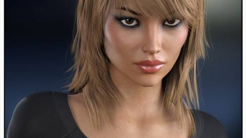 Sally Hair for Genesis 3 Female(s) and Genesis 2 Female(s)