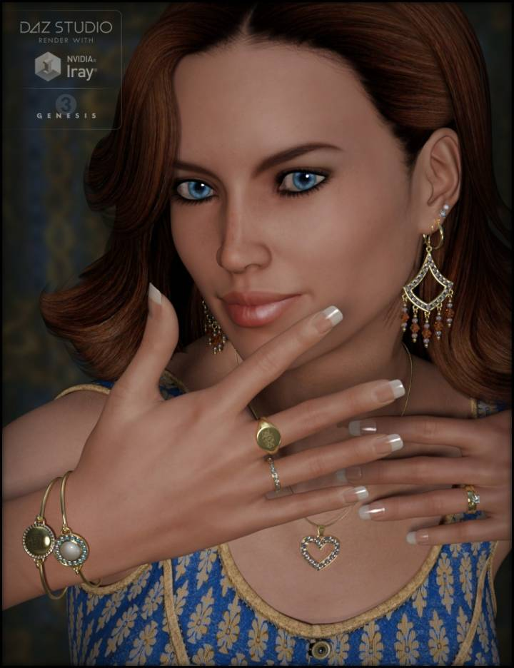 Jewelry Basics for Genesis 3 Female(s)