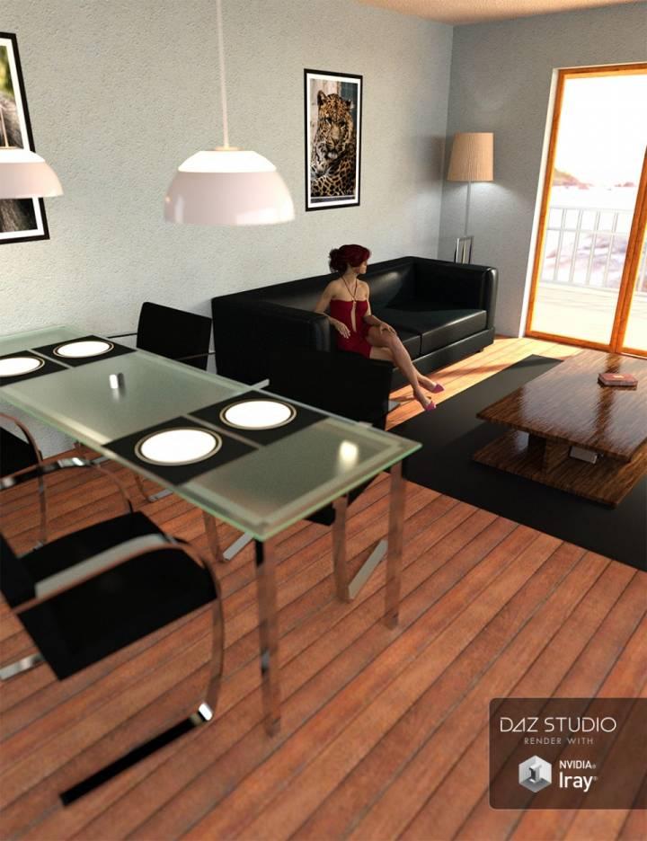 Daz studio poser living room interior daz3d for Living room 2 for daz studio