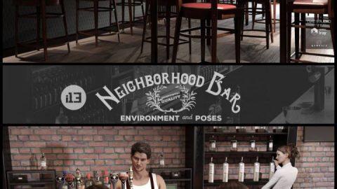 i13 Neighborhood Bar Environment with Poses