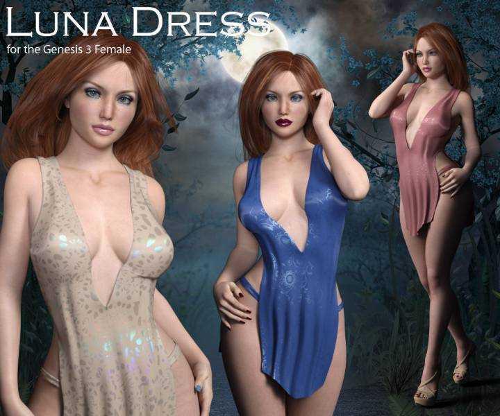 Luna Dress for Genesis 3 Female