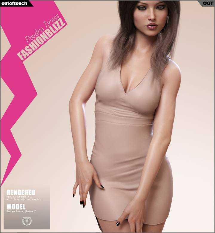 Fashion Blizz Poudre Dress for Genesis 3 Female(s)