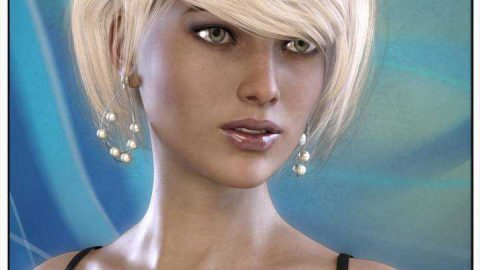 Kimmy Hair for Genesis 3 Female(s)