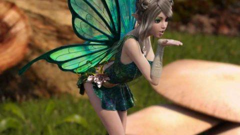 RW Butterfly Wings for Genesis 3 Female(s)