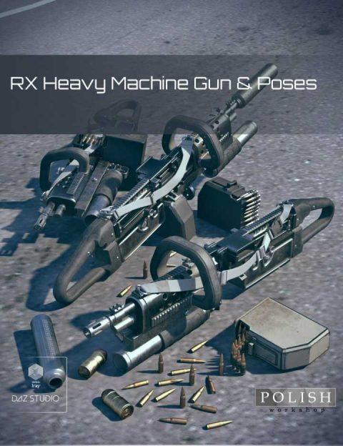 RX Heavy Machine Gun and Poses