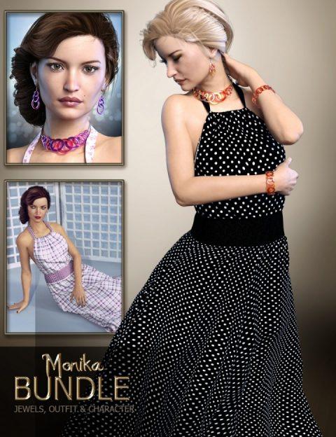 Monika Bundle – HD Character, Jewelery and Outfit