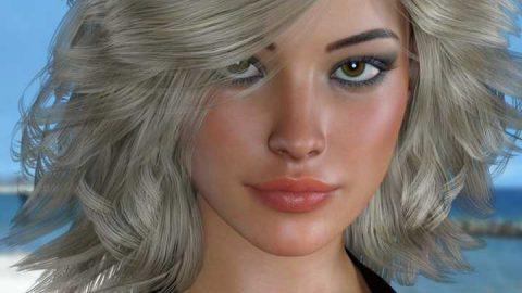 Cynda Hair for Genesis 3 and 8 Female(s)