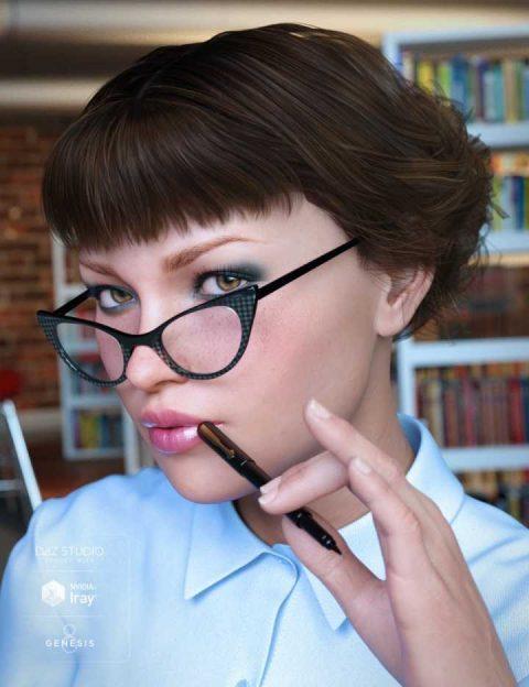 Librarian Hair for Genesis 8 Female(s)