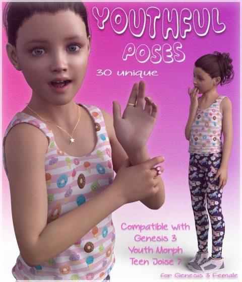 Youthful Poses – G3F