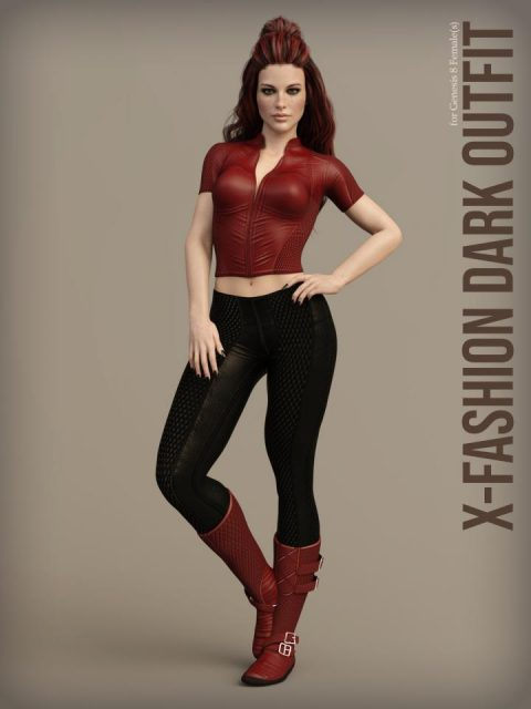 X-Fashion Dark Outfit for Genesis 8 Females