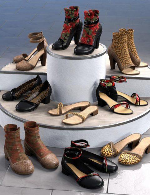 All Season Shoes for Genesis 8 Female(s)