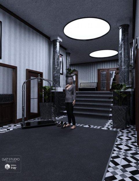 Noir Classy Art Deco Hotel Lobby