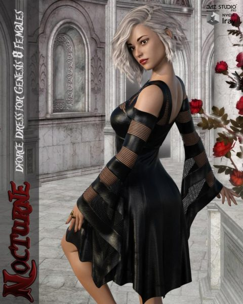 Nocturne – dForce dress for Genesis 8 Females