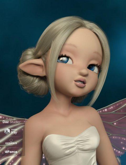 Skyla Hair for Genesis 3 and 8 Female(s)