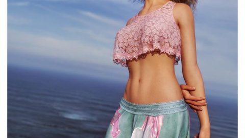 dForce – GB Summer Spirit Outfit for Genesis 8 Female