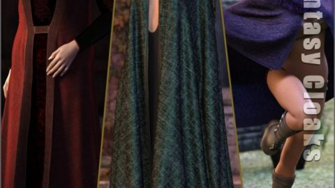 dForce High Fantasy Cloaks for Genesis 8 Female(s)