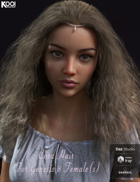Cora Hair for Genesis 8 Female(s)