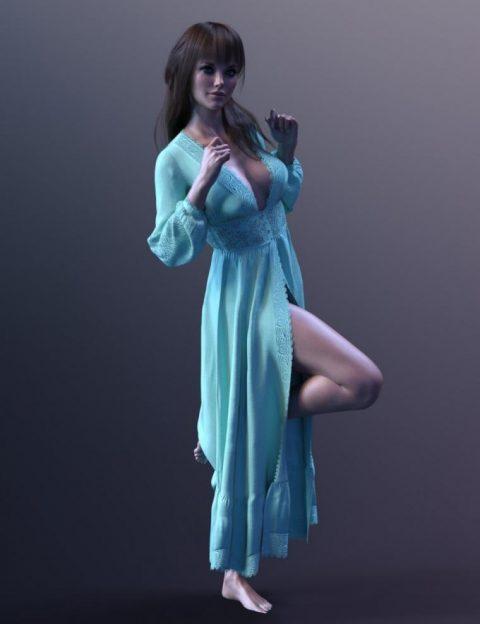 dForce X-Fashion MaxiDress for Genesis 8 Female(s)